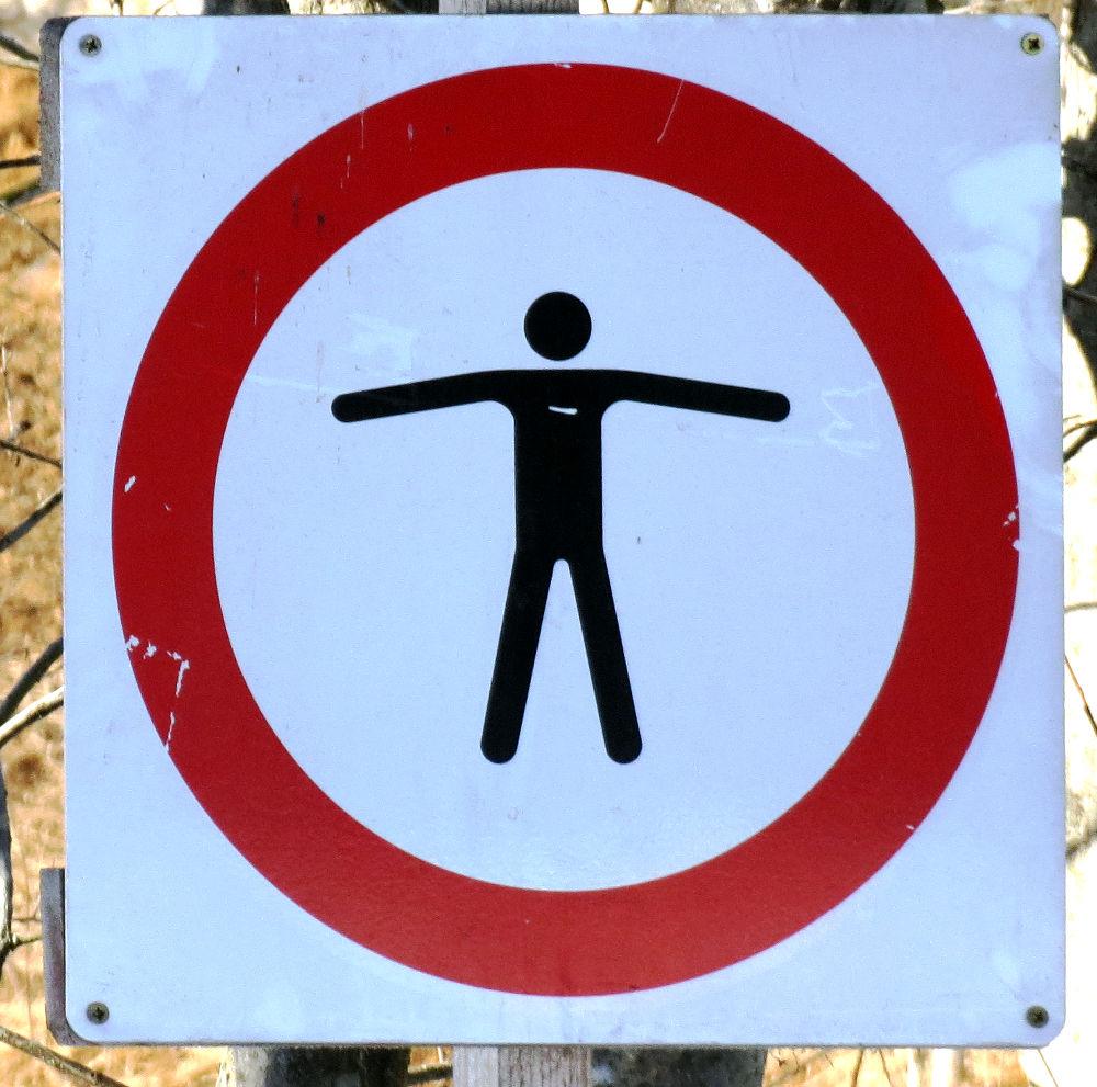 betreten verboten bilder